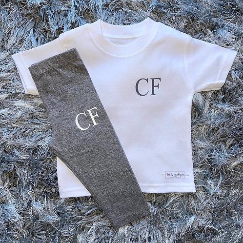 Initials T-Shirt Lounge Set