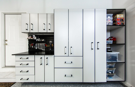 Custom cabinets and work bench from Designer Garages