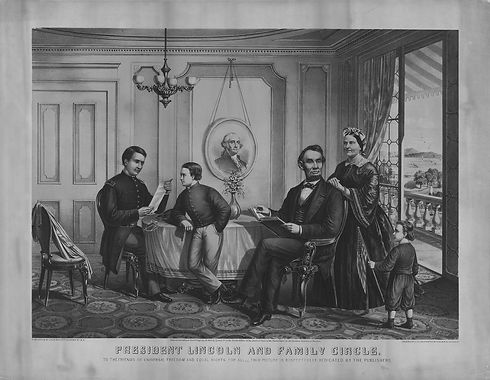 President Abraham Lincoln and family