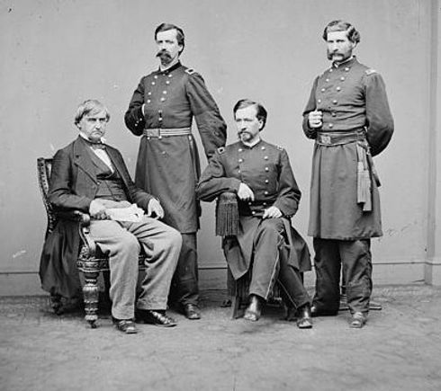 Members of the military commision for the trial of Lincoln assassination conspirators