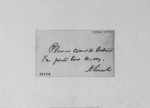 President Lincoln request for Cabinet meeting