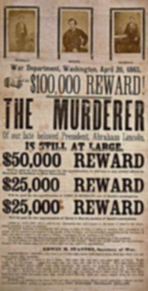 Lincoln Assassination Reward Poster