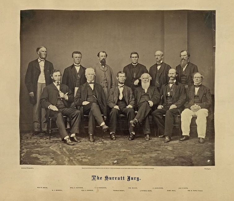 The Jury in the trial agains lincoln assassination conspirator John Surratt