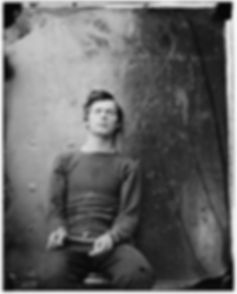 Lewis Powell, shackled on the monitor Montauk