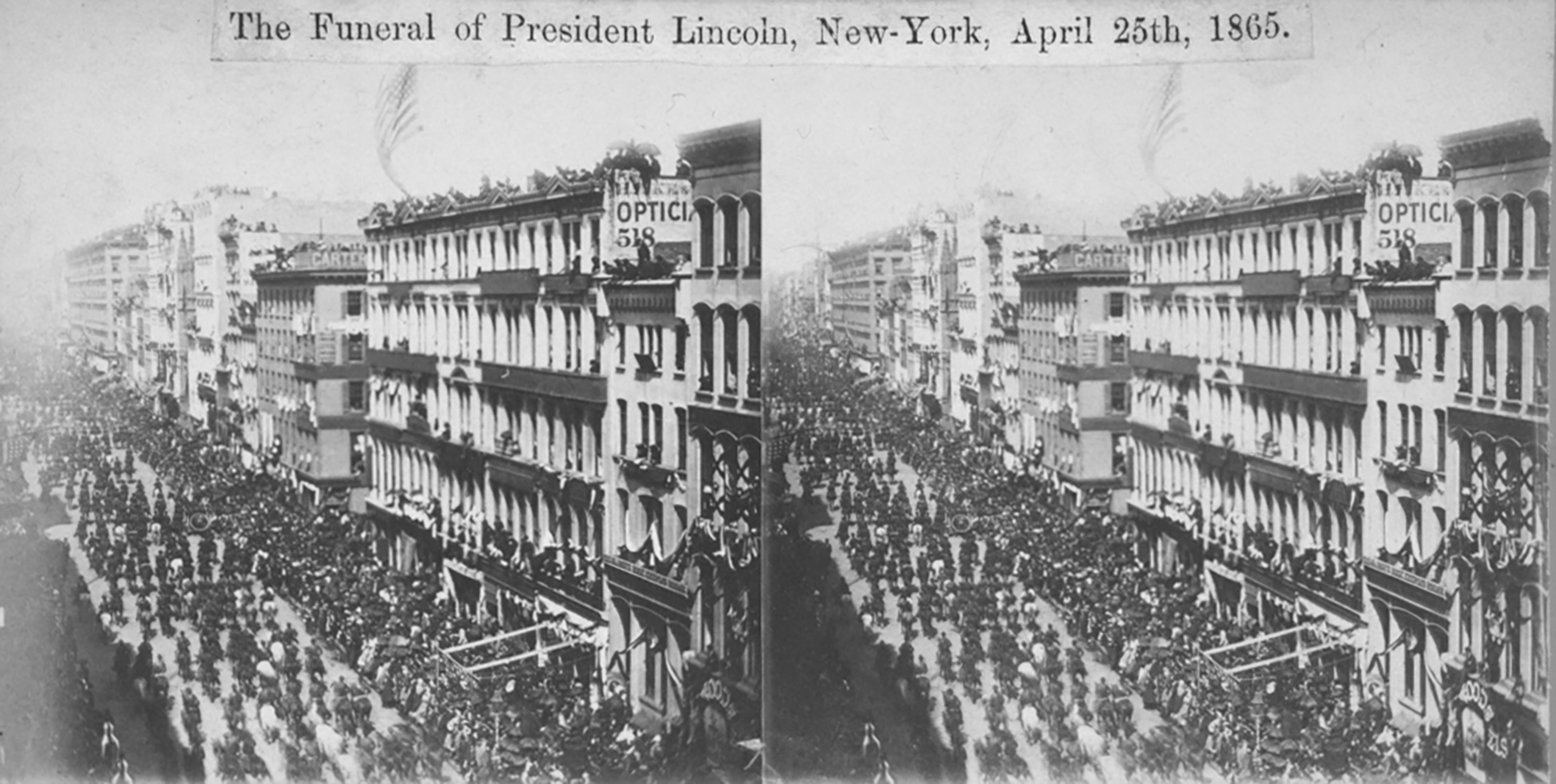 Lincoln's Funeral Procession New York