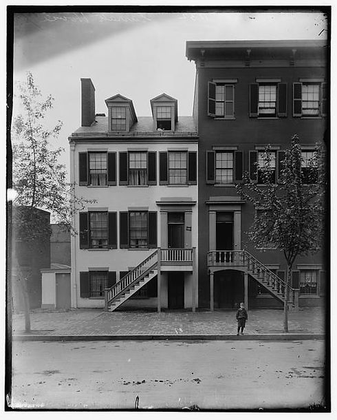 The Surrratt Boarding House in Washington, D.C. on H Street