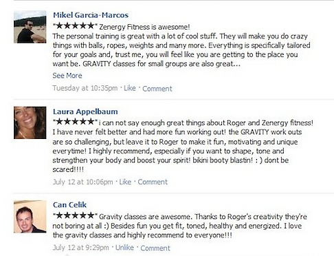 Personal training reviews