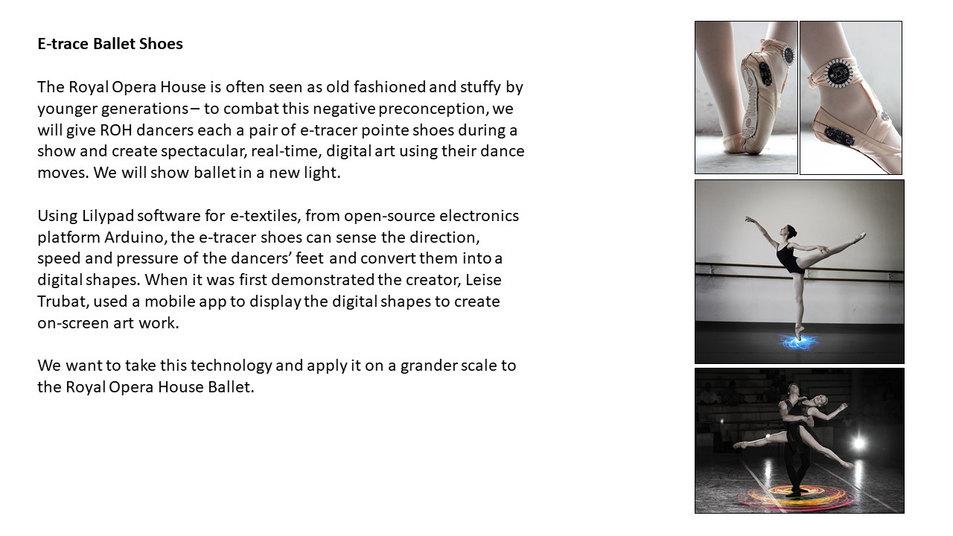 E-trace ballet shoes