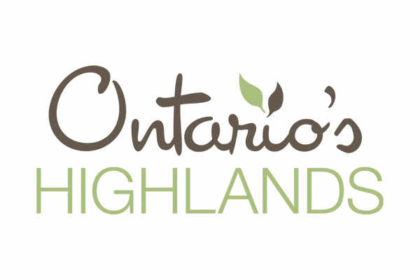 ontario's highlands tourism organization logo, client of ben hemmings media
