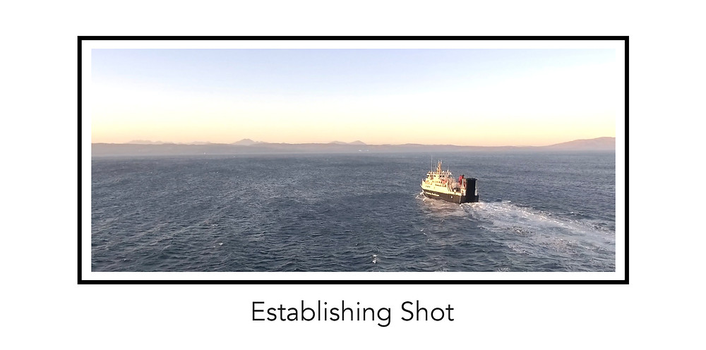 a storyboarded screenshot from a BEN HEMMINGS MEDIA video with the words Establishing Shot written beneath the image