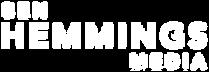 Ben Hemmings Media Logo 3 lines white