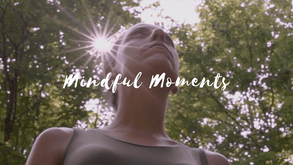 a screenshot from ontario's highlands tourism video about mindful moments