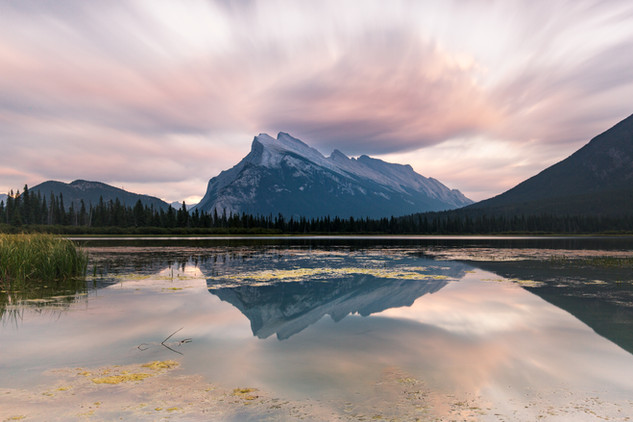 A portfolio image of Banff's Vermillion Lakes by Toronto based commercial photographer BEN HEMMINGS MEDIA