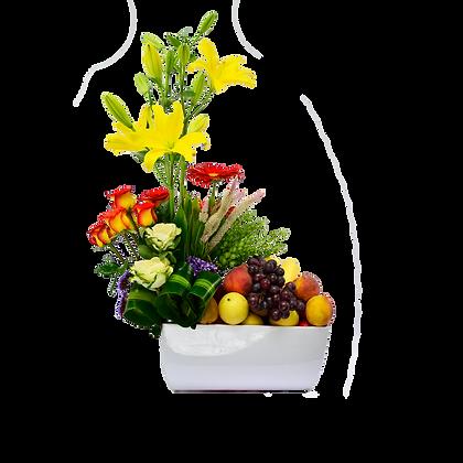 Caja Grande de Frutas y Flores