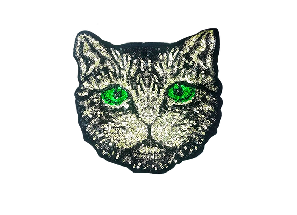 Parche Gato Ojos Verdes