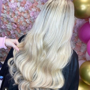 Full head highlights & tape extensions