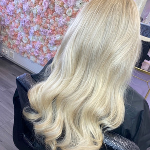 Full head highlights, cut & blow dry