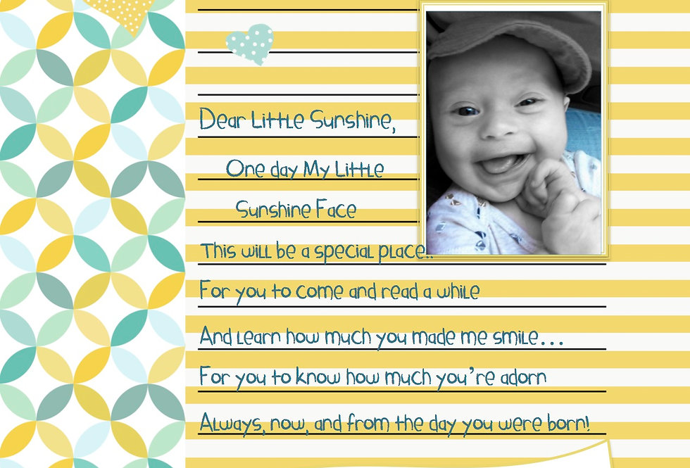 Letters To My LittleSunshine Face - Memory Journal Storybook (Vol. 2)