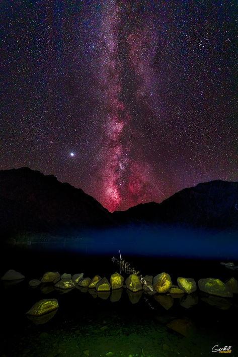 Milky Way, Stars, Lake, Astrophotography
