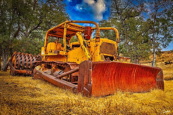 Bulldozer, Sheeps Foot, Tractor