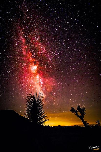 Milky Way, Astrophotography, Stars, Desert, Mountains, Light Pollution