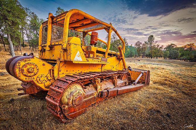 Tractor, Bulldozer, Sunset