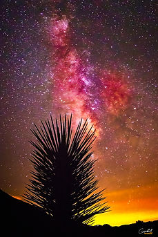 Milky Way, Astrophotography, Stars, Mountains. Light Pollution