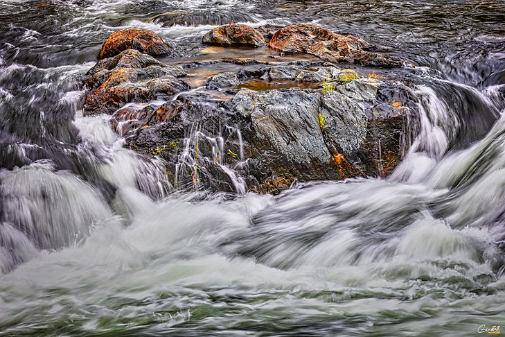 Waterfall, river, Water, Rocks,