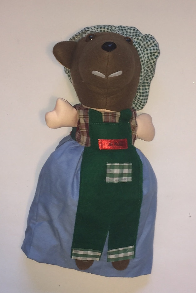 The Wolf in the 3 Pigs 3 in 1 doll