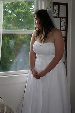 Bride just before wedding