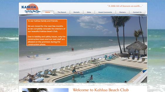 Kahlua Beach Club website