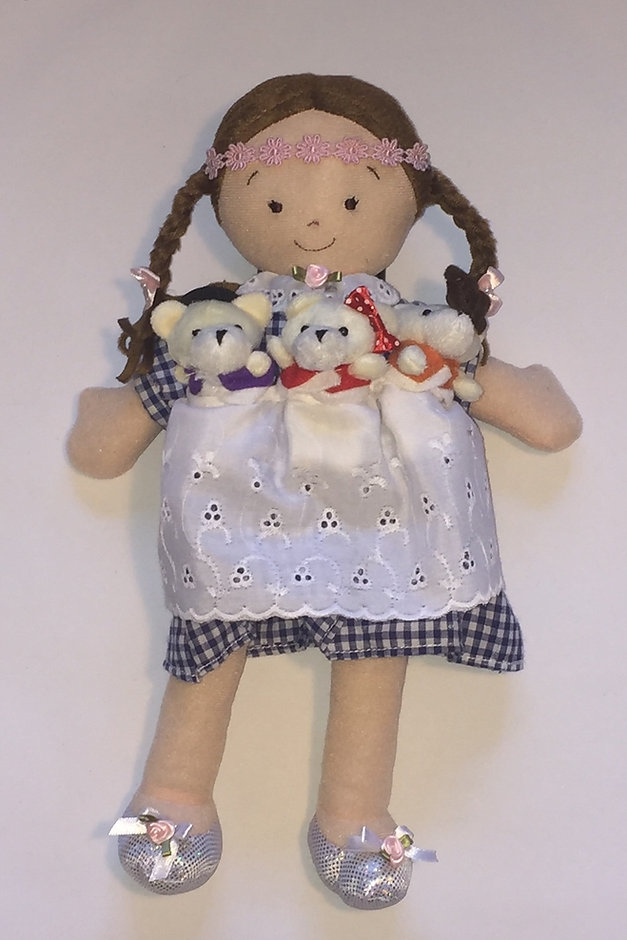 Goldilocks and the 3 Bears Doll with finger puppets