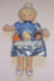 Cinderella story book doll with finger puppets