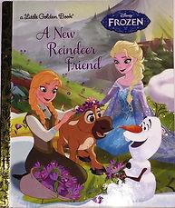"""Frozen book """"A New Reindeer Friend"""""""