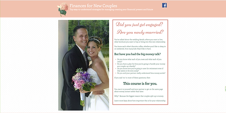 Finances for New Couples website
