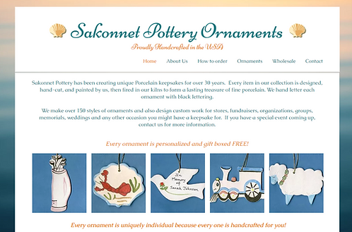 Website for Sakonnet Pottery Ornaments