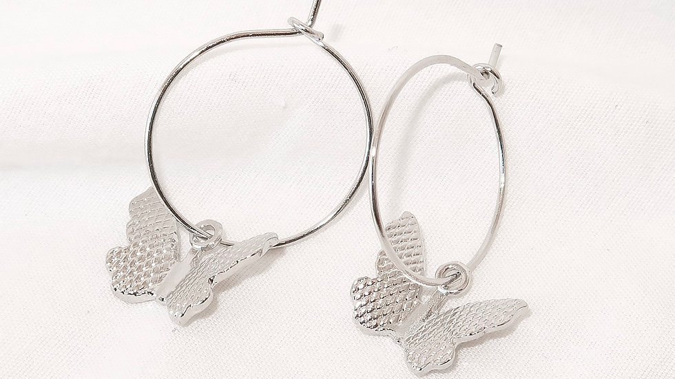 """Butterfly Effect"" Hoop Earrings"