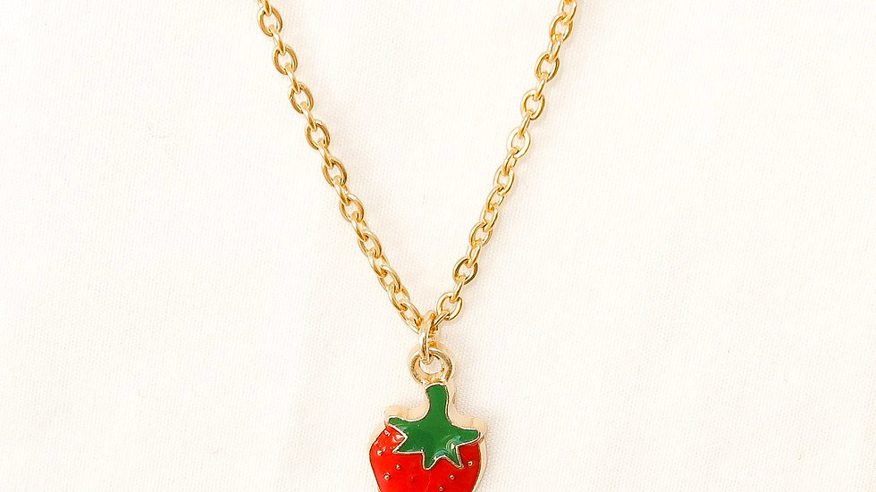 """""""Berry Sweet"""" Single Charm Necklace"""