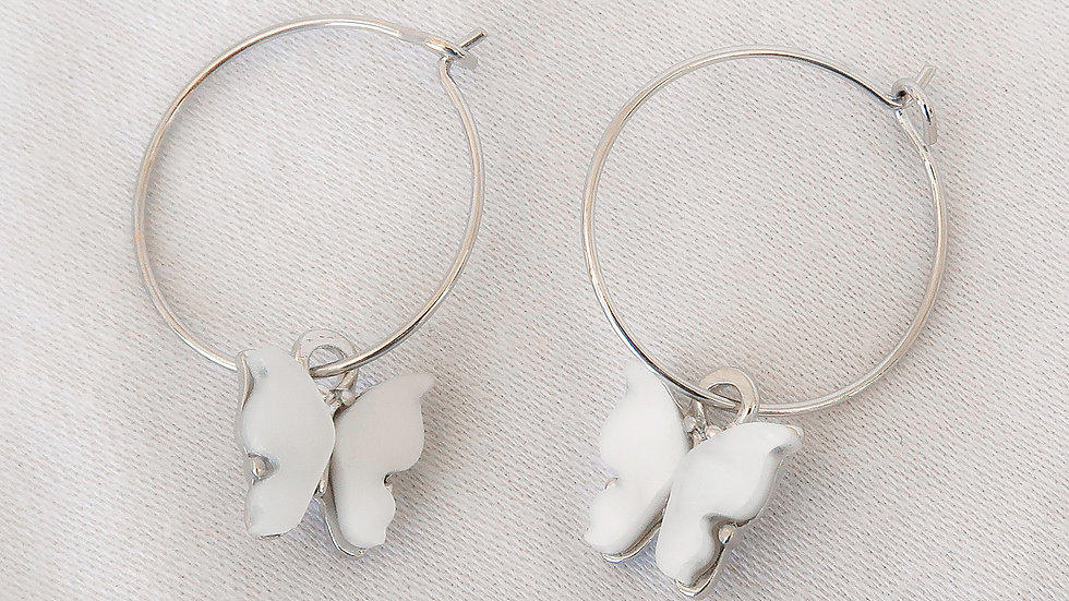 """Cloud 9"" Hoop Earrings"