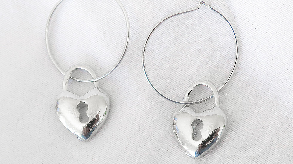 """Heartless"" Hoop Earrings"