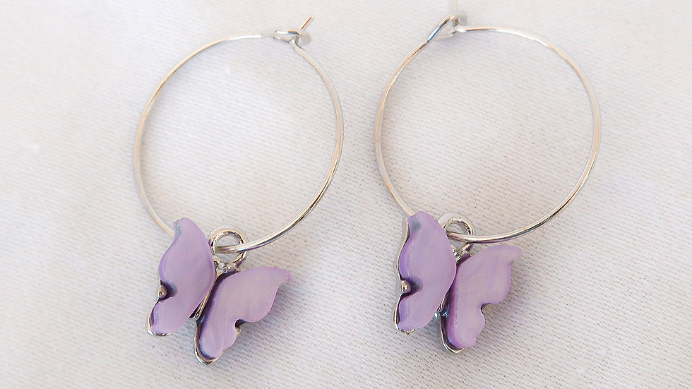 """Purple Rain"" Hoop Earrings"