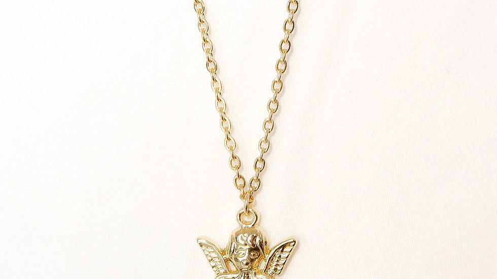 """Cherub"" Single Charm Necklace"