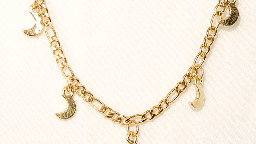 """Moon Child"" Charmed Anklet"