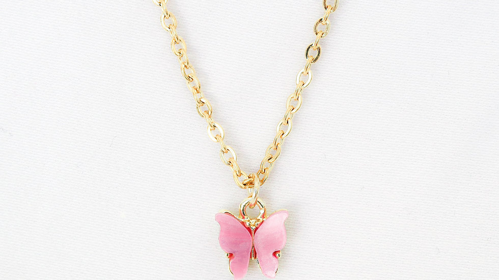 """Candy Floss"" Single Charm Necklace"