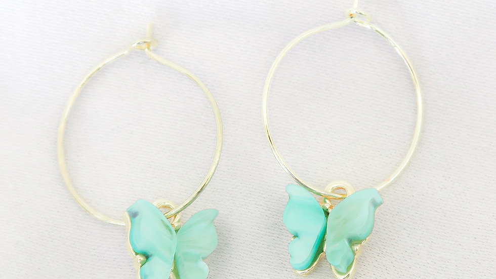 """Bahamas"" Hoop Earrings"