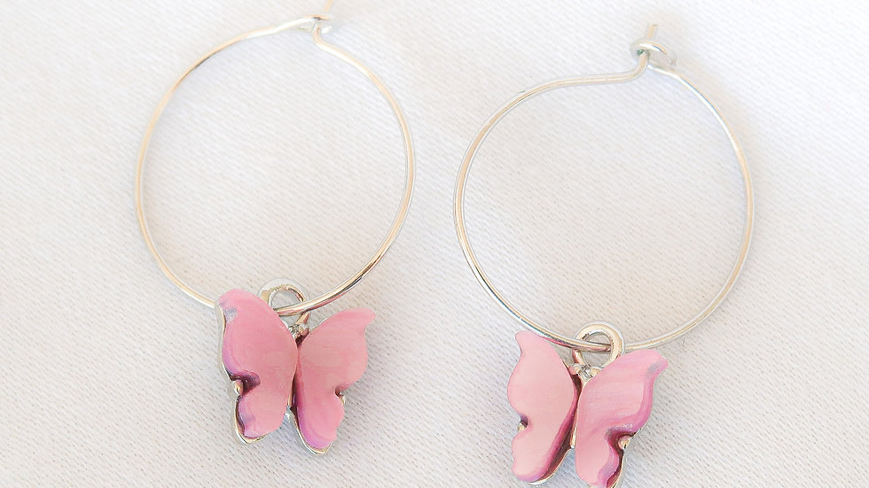 """""""Candy Floss"""" Hoop Earrings"""