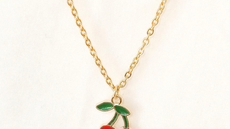 """Cherry Bomb"" Single Charm Necklace"