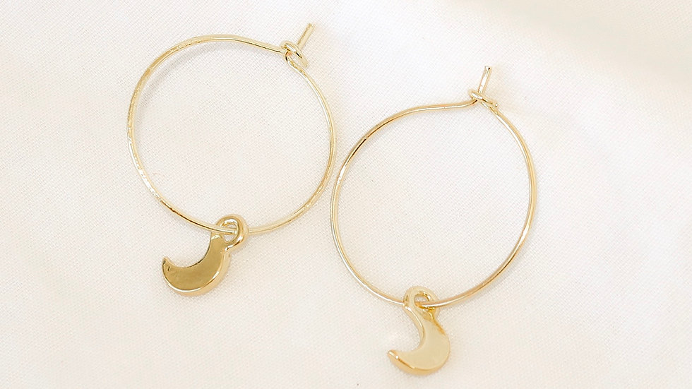 """Moon Child"" Hoop Earrings"