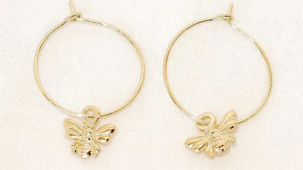 """""""Bee Humble"""" Hoop Earrings"""