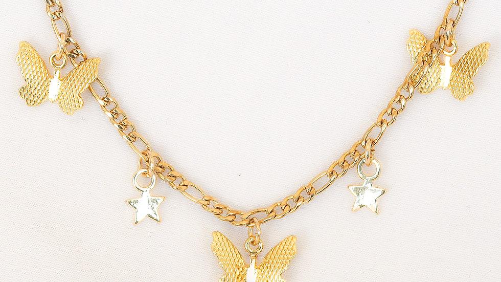 """Flutter"" Charmed Choker Necklace"